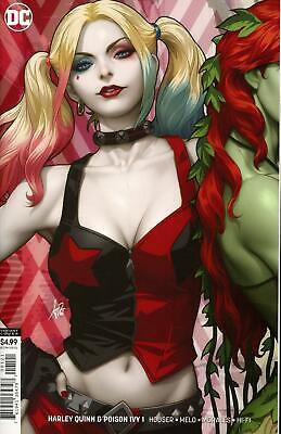 Harley Quinn And Poison Ivy #1 B Artgerm Lau Card Stock Variant VF+/NM+