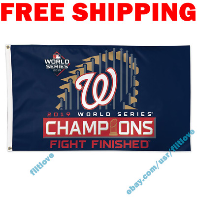 Deluxe Washington Nationals World Series Champions 2019 MLB Flag Banner 3x5 ft