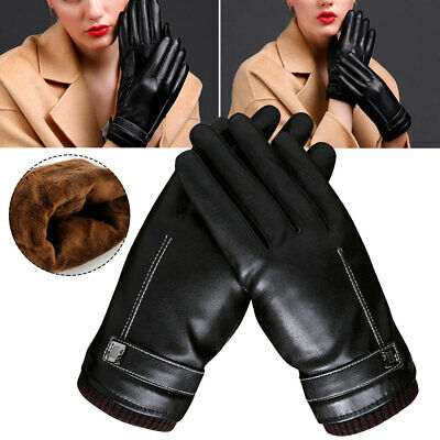 Women Men Touch Screen Winter Snow Gloves Windproof Warm Waterproof LeatherThick