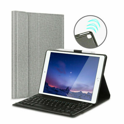 For iPad 10.2 7th Gen 2019 Wireless Bluetooth Keyboard With Leather Cover Case