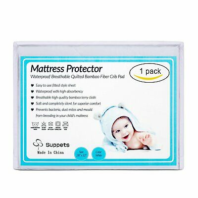Hypoallergenic Quilted Fitted Waterproof Mattress Protector Mattress Pad Cover