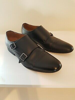 New Mens Peter Werth Black Curtis Toe Cap Leather Shoes Flats Lace Up