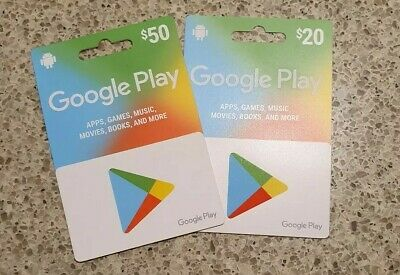 Google Play Gift Cards For $50 & $20