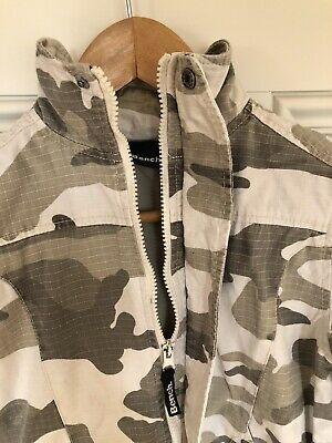 Bench Camouflage Jacket Hood 7-8 Years Boy's VGC