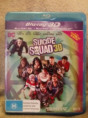 Suicide Squad 3D + 2D  BLU-RAY REGION B - NEW/UNSEALED