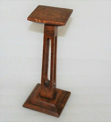 Arts & Crafts Liberty Style Golden Oak Treen Wig / Hat Stand Shop Display
