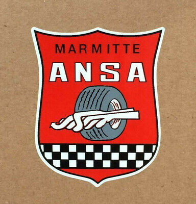 ANSA Marmite Muffler Exhaust System Vintage Sports Car Racing Decal Sticker