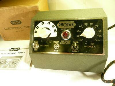 Vintage Photax Electronic Timer For Spares Or Repair Lab Darkroom Etc