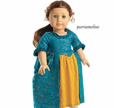 American Girl Doll Felicity  BeForever MEET GOWN/Dress ~1 piece outfit~NEW