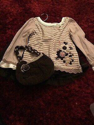 Girls Moonsoon Outfit Top  And Skirt Bag Exc Cond