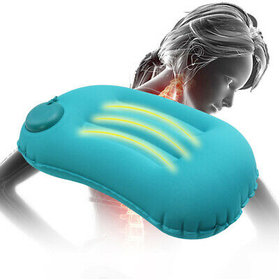 Portable Inflatable Travel Pillow Airplane Neck Head Cushion Office Nap Rest US
