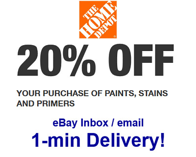 Home Depot 20% OFF paint primer Promo.1Coupon In-store Only-sent in 1 min