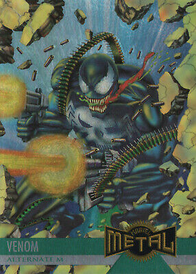 1995 Fleer Marvel Metal BASE Trading Card #136 VENOM