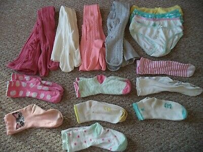 Girl's tights and socks bundle size 7-8 years