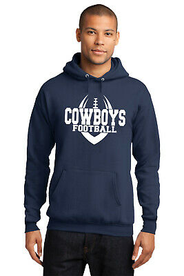 New Cowboys Hoodie Navy White Adult and Youth Sizes Dallas Hooded Sweatshirt