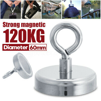 60mm 120KG Strong Powerful Magnet Neodymium Recovery Fishing Kit For Salvage New