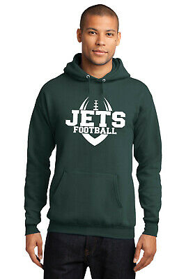 New Jets Hoodie Dark Green White Adult / Youth Sizes New York Hooded Sweatshirt