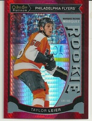 2015-16 O-Pee-Chee Platinum Marquee Rookies Red Prism #M8 Taylor Leier /149
