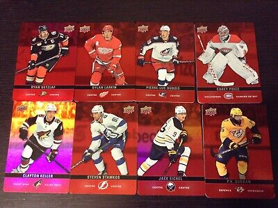 2019-20 Upper Deck Tim Hortons Red Die Cut lot of 8 Cards