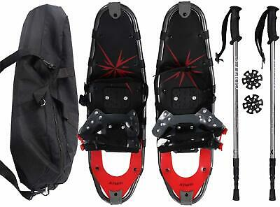 """Snowshoes All Terrain Sports Walking Poles Carrying Bag Adults Adjustable 27""""In"""