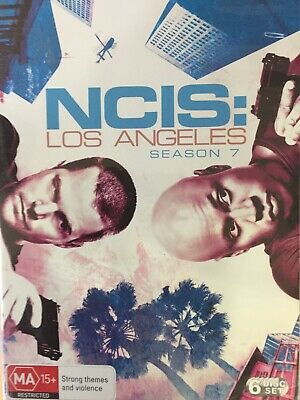 NCIS LOS ANGELES - Season 7 6 x DVD Set Great Cond Complete Seventh Series Seven