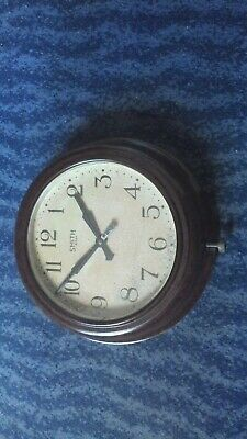 Smith's 7 Jewel 8 Day Movement Vintage Bakelite Wall clock military crows foot
