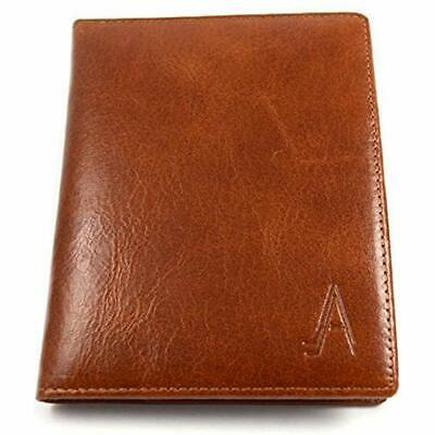Leather Passport Holder Cover Case RFID Blocking Travel Wallet Wallets