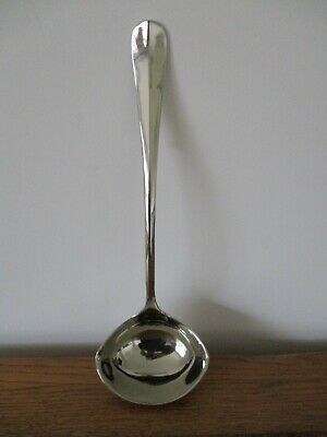 ANTIQUE SILVER PLATED EPNS TABLE LONG PUNCH LADLE/SERVER SPOON BOWL, WEIGHT 265g