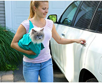 2 PACK Purrfect Pouch Comfy Cat Carrier Grooming Sack As Seen on TV Teal NEW