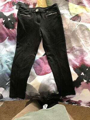 Girls Black Trousers Stretch Feel Age 7 Adjustable