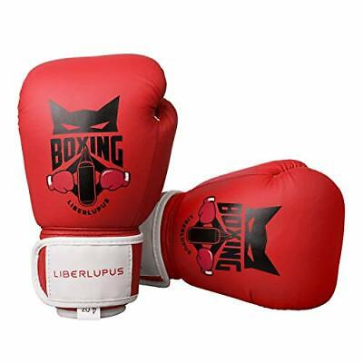 Liberlupus Kids Boxing Gloves, Training Boxing Gloves for Kids Age (4 oz|Red)