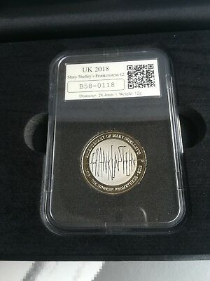 Mary Shelley Frankenstein Date Stamp £2 coin Limited Edition #118