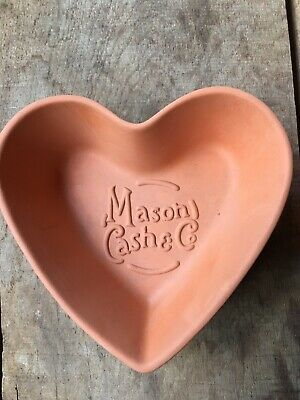 Mason Cash &Co Heart Bowls Dishes Terracotta Pottery Plates X2
