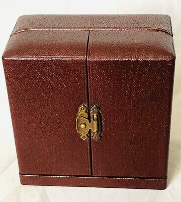 Antique Vintage Smiths Box Only Antique Burgundy In Authentic Period Condition;;