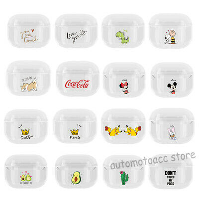 For Apple AirPods Pro 3 Cute Cartoon Pattern Protective Hard PC Clear Case Cover