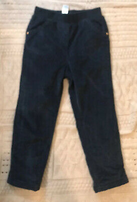Girls 3-4 Years Navy Blue Lined Cord Winter Trousers Worn Once George