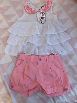 Girls Top And Short Set Size 2-3yrs