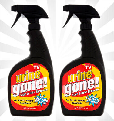 2 Urine Gone Stain & Odor Eliminator: Professional Strength 24 OZ