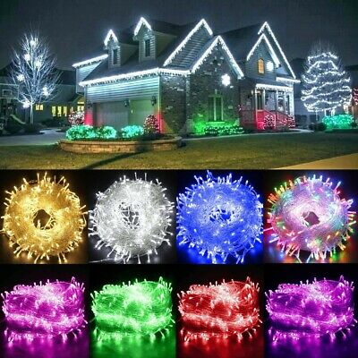 Fairy String Lights LED Clear Cable for Christmas Tree Indoor Outdoor Waterproof