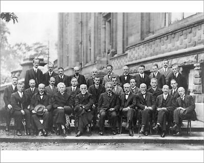 "10""x8"" (25x20cm) Print of 5th Solvay Conference physicists from"