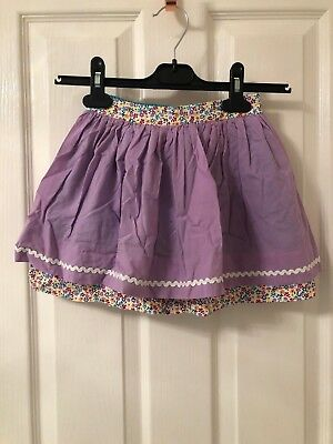 Little Bird Jools Oliver Mothercare Lilac Purple Ric Rac Trim Girls Skirt–4-5 Yr