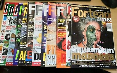 Fortean Times magazines issue 118 - 129 Jan -Dec 2000