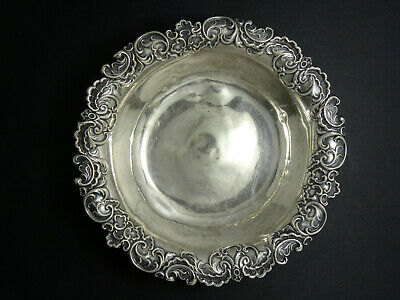 "ANTIQUE REPOUSSE Whiting Mfg. Co. Pompadour STERLING SILVER 5419 BOWL 5"" / 46.9g"
