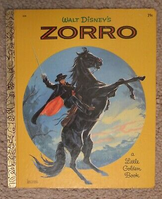Walt Disney Zorro Little Golden Book 1958