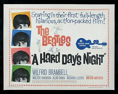 A HARD DAY'S NIGHT ✯ CineMasterpieces 1964 THE BEATLES ORIGINAL MOVIE POSTER