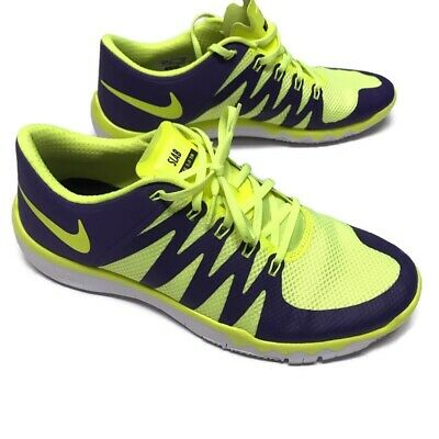 NIKE FREE 5.0 Kids Youth Size 4.5Y Electric Blue and Lime