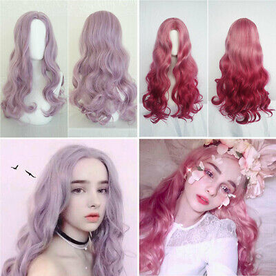 Hairpiece Women Ladies Cosplay Stage Party Full Wig Long Hair Ombre Wavy Wigs