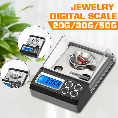 Mini Digital Electronic Pocket Gold Jewellery Weighing Scales 0.001G to 50 Grams