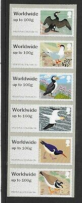 Birds of Britain IV Worldwide up to 100g Post & Go set of 6.