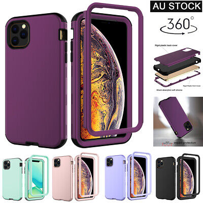 For iPhone 11/11 Pro Max 360° Full Body Hybrid Slim Shockproof Bumper Case Cover